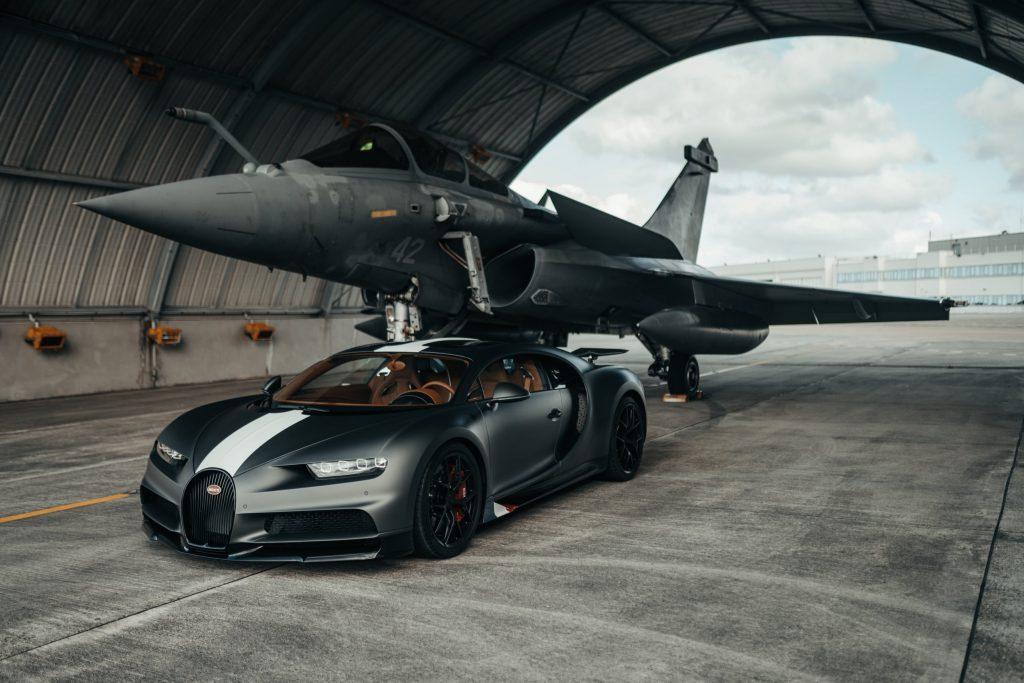 Bugatti Chiron Sport 'Les Légendes du Ciel' meets Dassault Rafale Marine