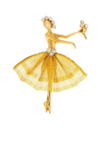 Sketches featuring dancer clips, circa 1940-1950 Van Cleef & Arpels Archives