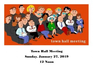 Town Hall Meeting Jan 27 2019 Cathedral of Light