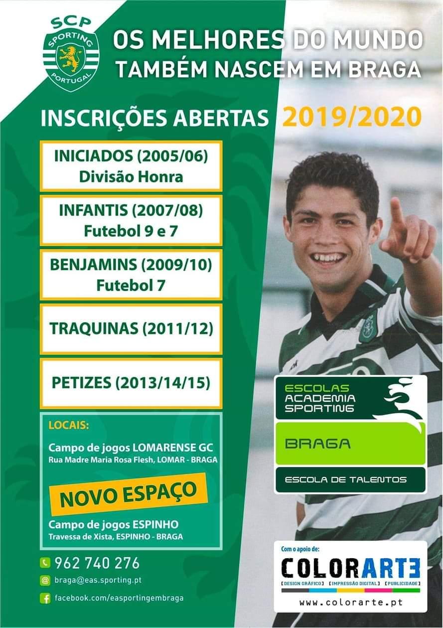 Escola Academia Sporting – Braga com inscrições abertas