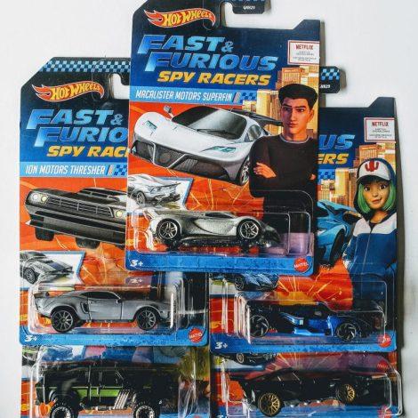 Hot Wheels 2020 Fast & Furious Spy Racers Assortment B Complete Set of 5