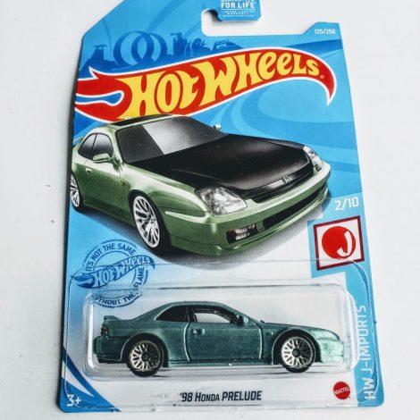 Hot Wheels 2021 HW J-Imports 1998 Honda Prelude GTD34 Green (Dollar General)