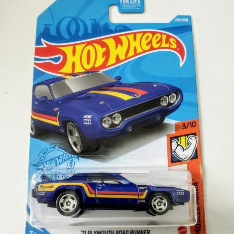 Hot Wheels 2021 Muscle Mania 3 of 10 1971 Plymouth Road Runner Blue GTB42