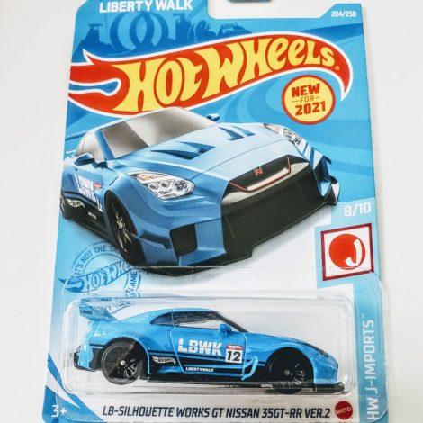 Hot Wheels 2021 HW J-Imports 8 of 10 LB-Silhouette Works GT Nissan 35GT-RR Ver.2 Blue - Liberty Walk - Laughlin GRX63