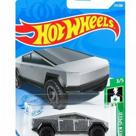 Hot Wheels 2021 HW Green Speed 3 of 5 Tesla Cyber Truck GTB22