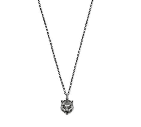 Gucci Gatto Feline Head Necklace YBB43360800100U_0