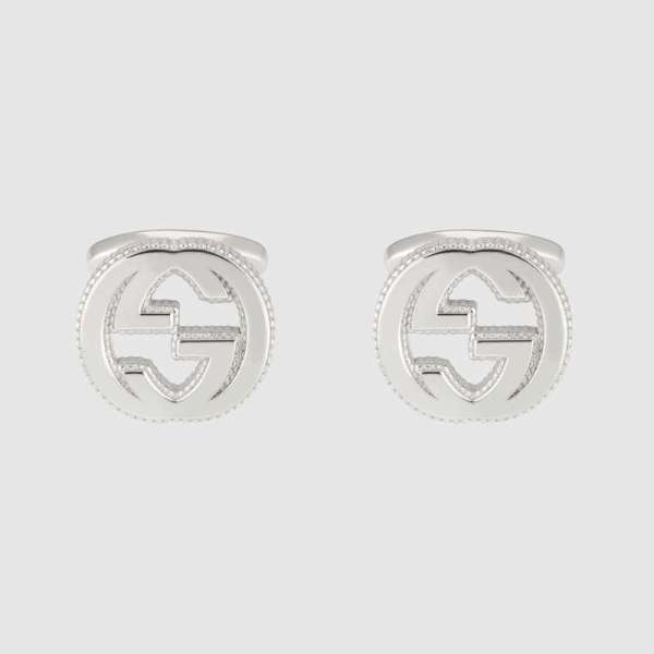 Gucci Interlocking G Cufflinks YBE49901000100U_0