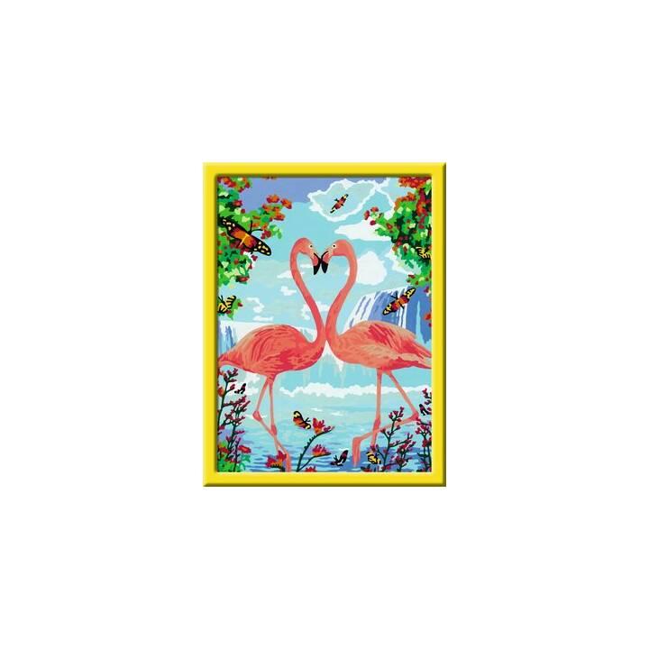 RAVENSBURGER Set Malvorlage &- buch Flamingo - microspotch