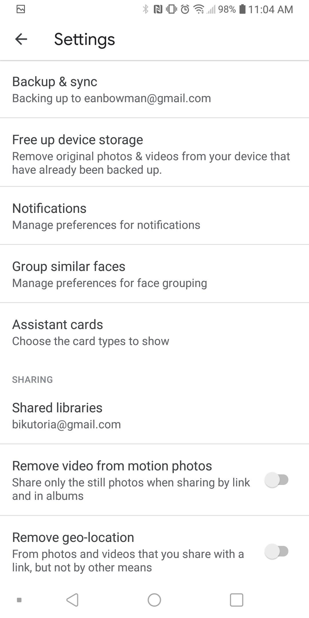 sd card access option
