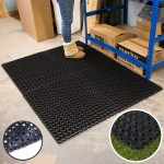 Large Rubber Ring Heavy Duty Door Mat Non Slip Outdoor Entrance Stable Drainage Ebay