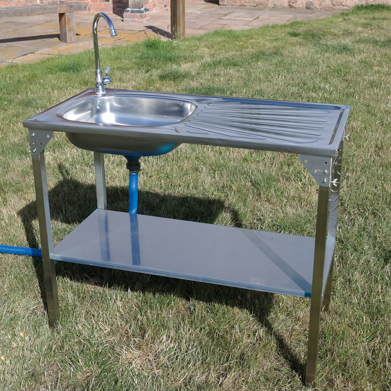 CAMPING SINK OUTDOOR KITCHEN STAINLESS STEEL DRAINING
