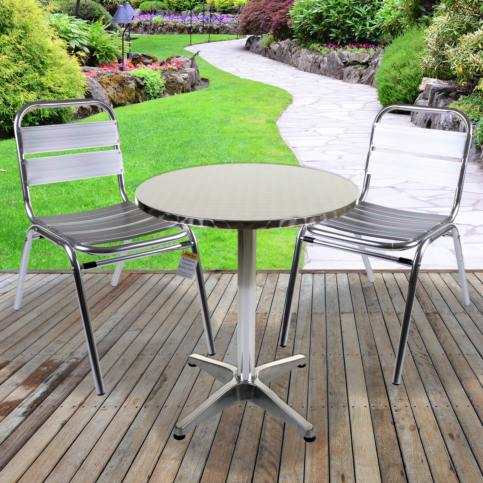 Metal Bistro Table And Chairs Details About 3pc 5pc Bistro Sets Outdoor Garden Furniture Square Round Stacking Tables Chairs