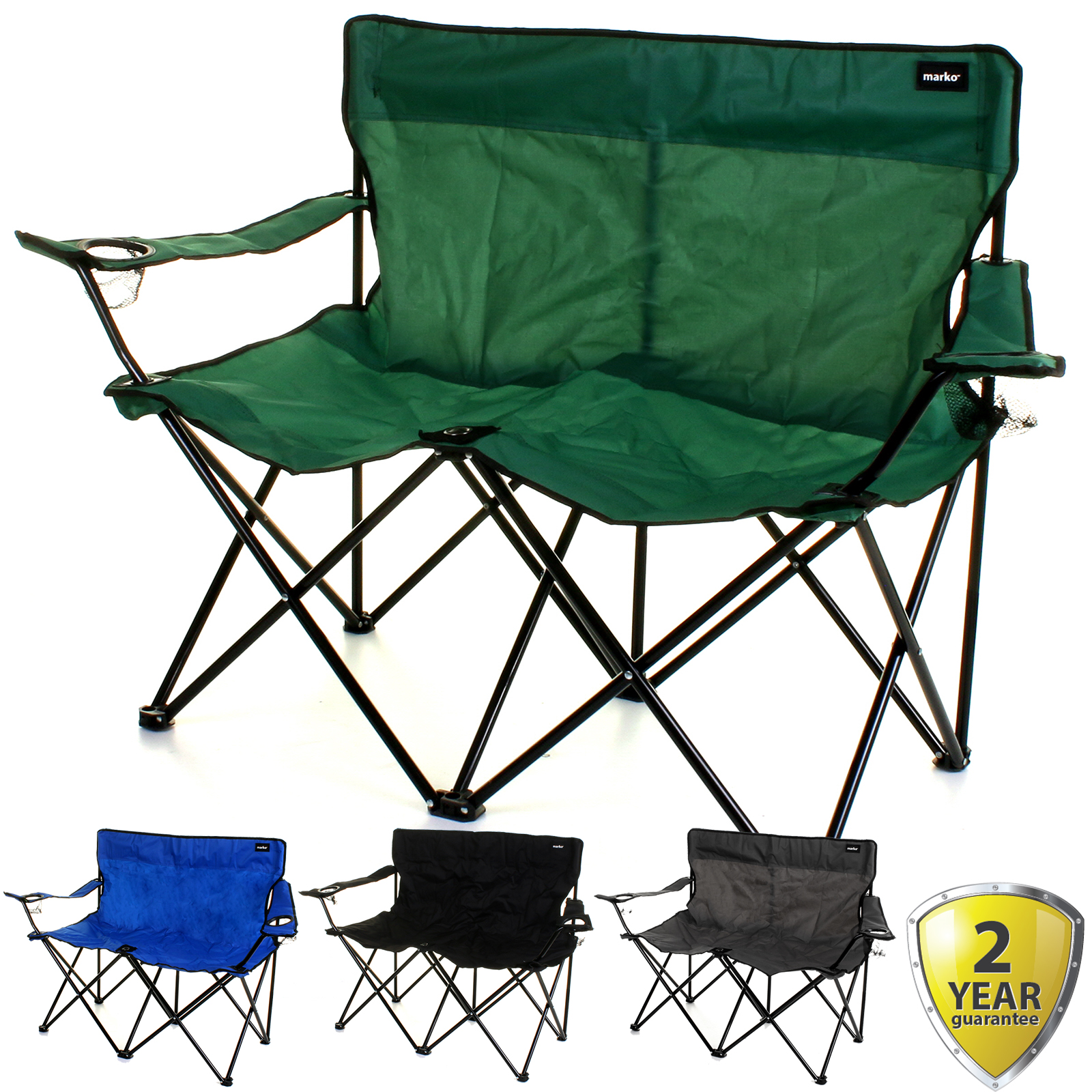 Double Camping Chair Details About Double Camping Chair 2 Seater Folding Portable Fishing Picnic Steel Festival New