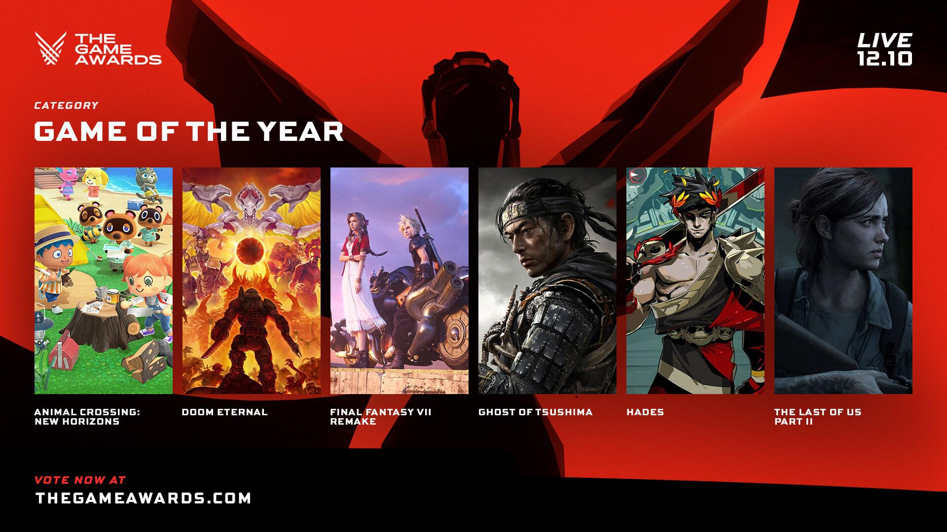 نتيجة بحث الصور عن Video game awards 2020