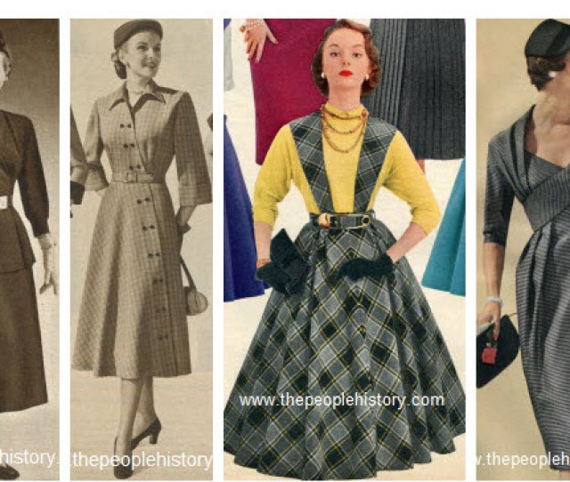 Fifties Ladies Fashion Dress Examples
