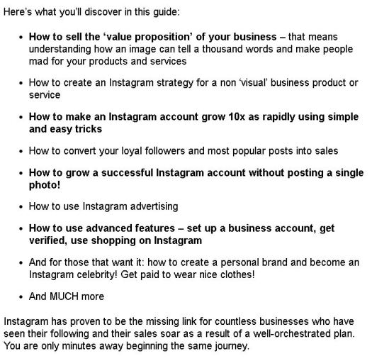 Instagram Marketing Secrets Description