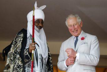 Prince Charles with Emir of Kano Lamido Sanusi