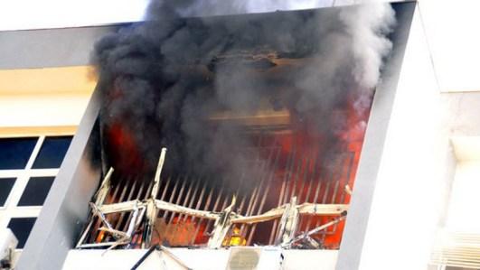 Image result for Inec office burn