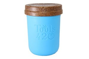 Re-Stash 8 oz Cannabis Storage Jar Blue and Brown
