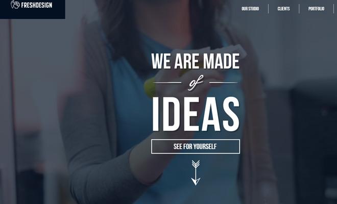 fresh design agency studio website