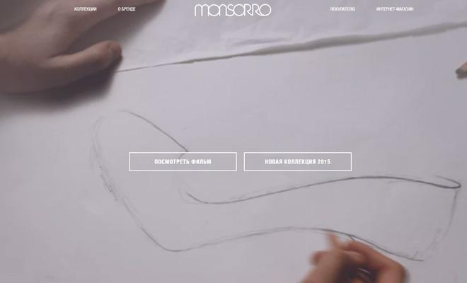 monsorr design website homepage