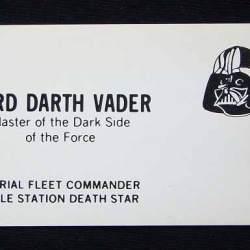 Darth Vader's Business Card