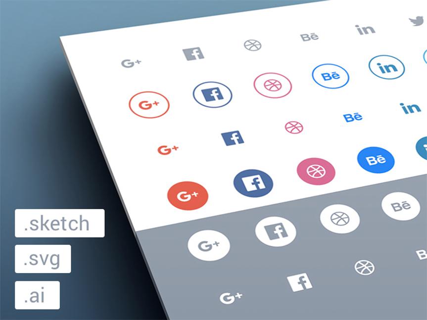 Freebies-Social-flat-icons-set
