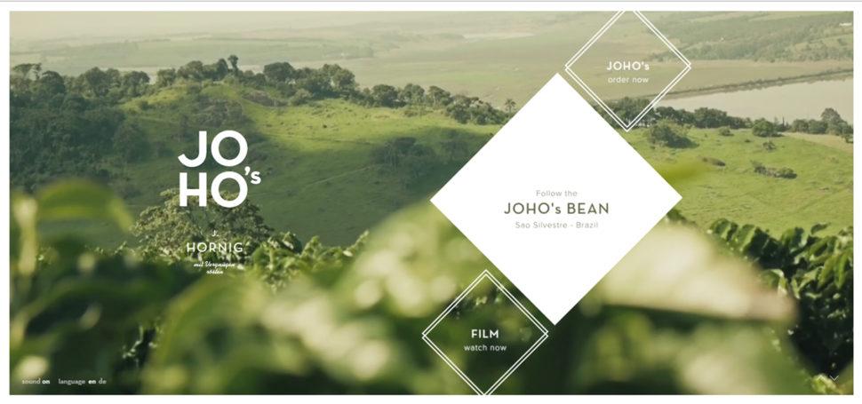 joho's bean website design