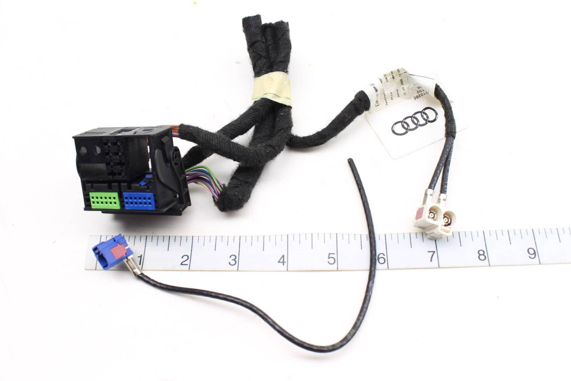 hight resolution of 07 08 audi rs4 b7 rnse rns e radio nav unit wiring harness connector set