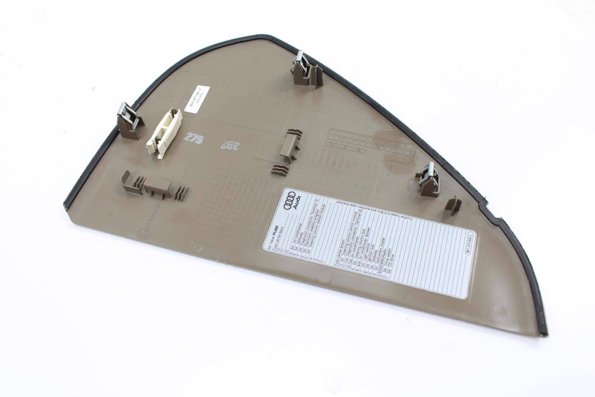 hight resolution of 2009 2010 2011 2012 audi a4 b8 right dash cover fuse box panel large photo large photo