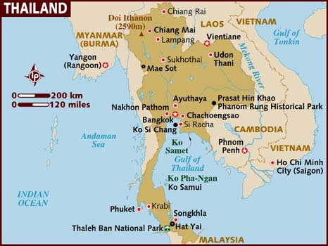 carte de Thailande