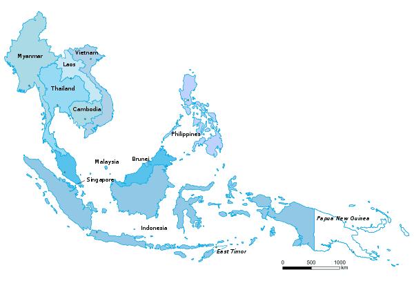 Les 10 Etats membres de l'ASEAN