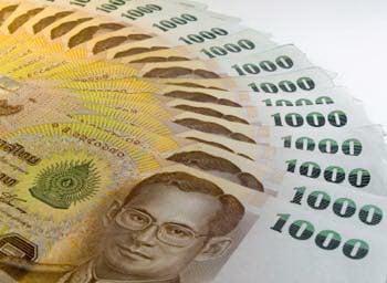 1000 baht bank note thailand