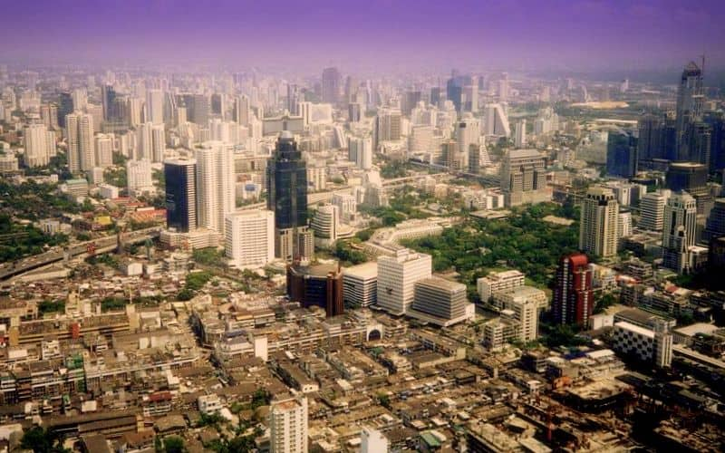 bangkok skyline business district