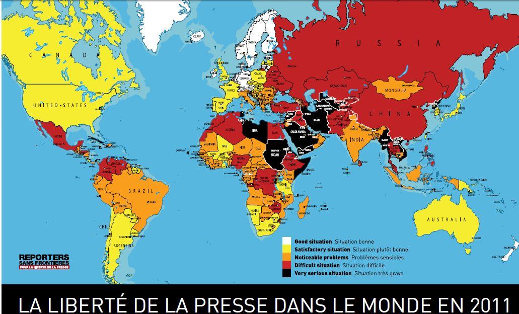 liberté de la presse RSF carte
