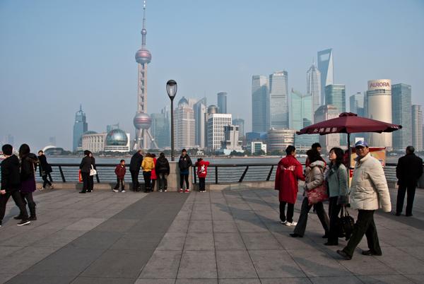 Shanghai view from the Bund