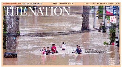 Nation Journal inondations Thailande Octobre 2011