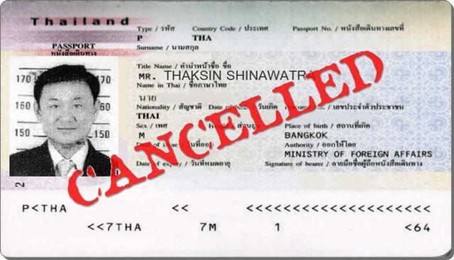 Passeport Thaksin Annulé (montage)