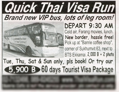 Visa Run Thailande