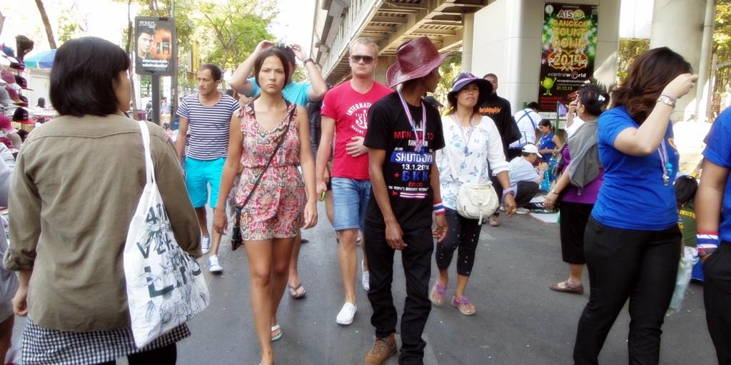 Touristes Bangkok manifestations