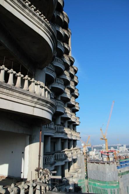 Sathorn Unique, ghost building Bangkok. Photo : Flavien Cuzin