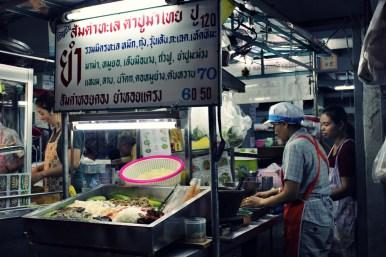 Bangkok Sukhumvit soi 38 Street food night market. Photo : Clémence Cluzel
