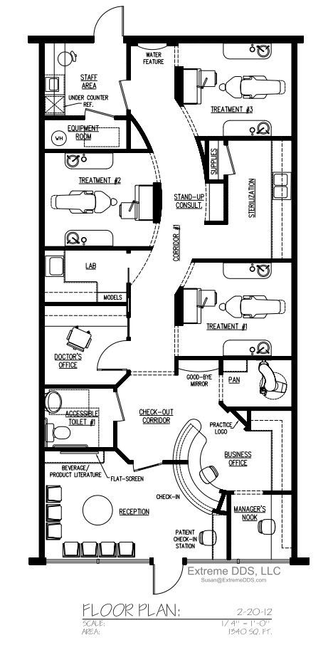 Family and General Dentistry Floor Plans