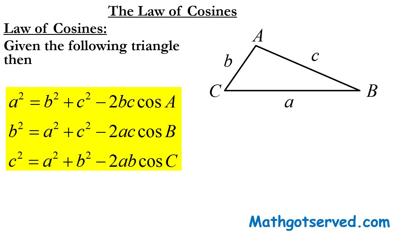 Triangle Trigonometry Unit 6