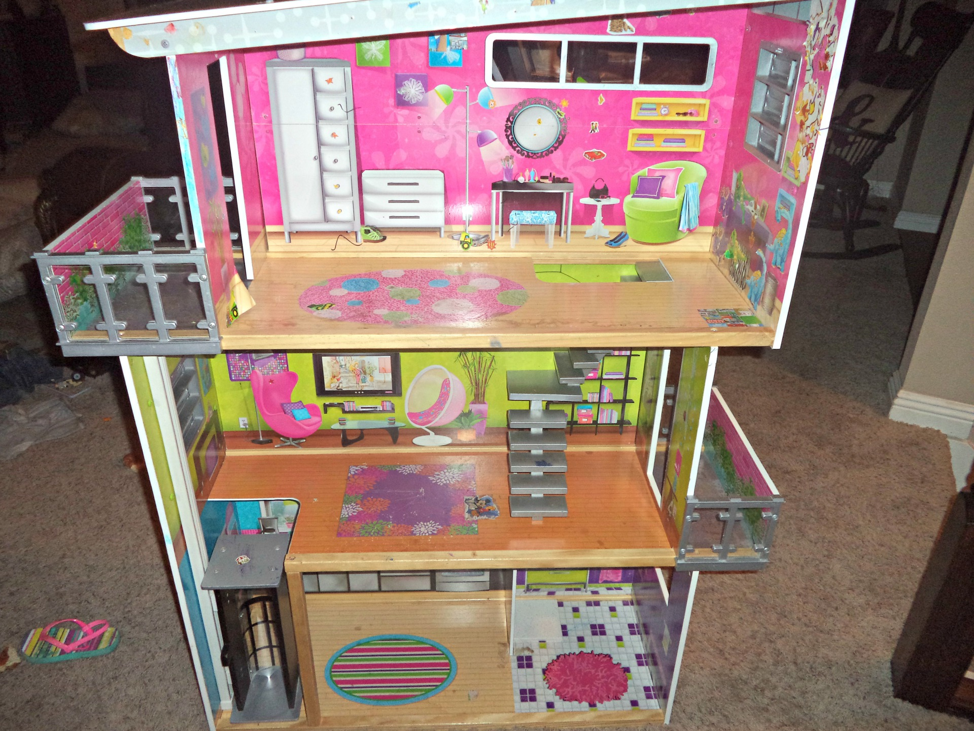 barbie house before