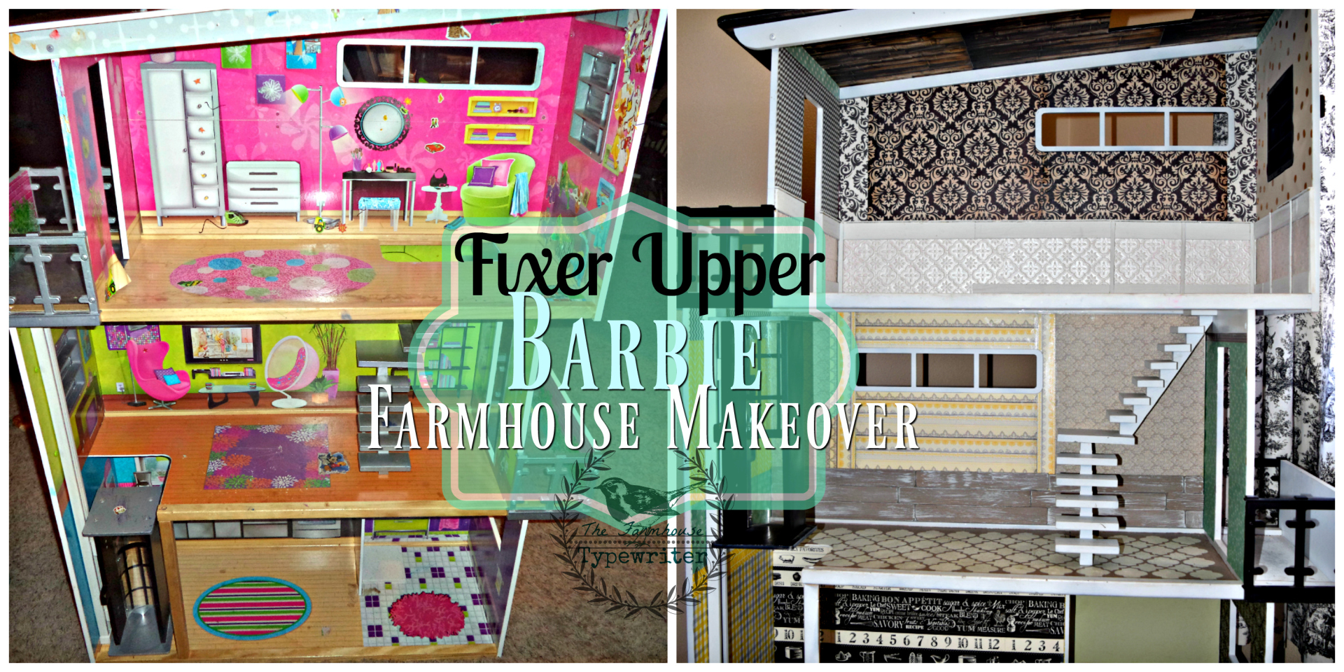 barbie fixer upper farmhouse before and after
