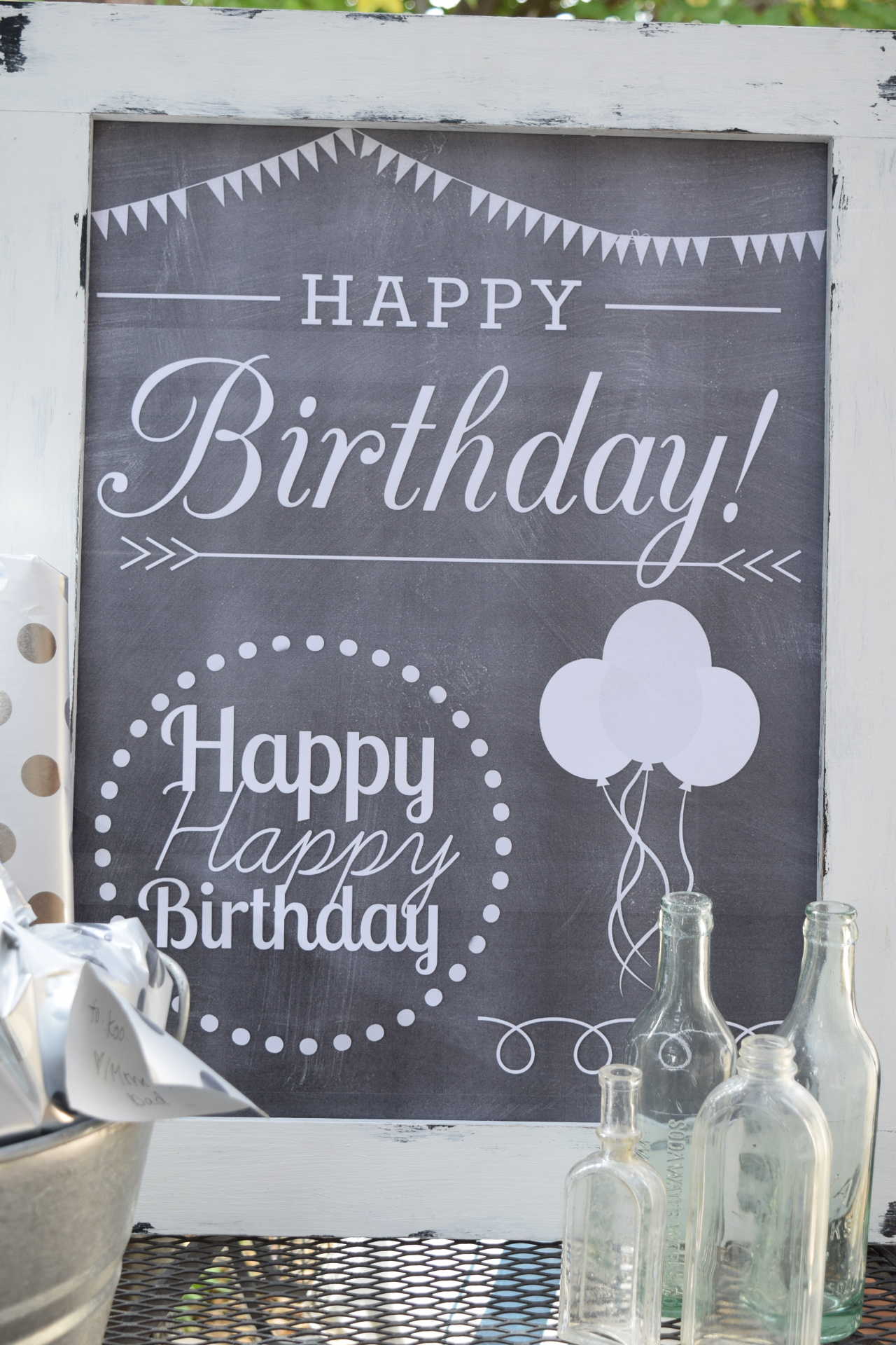 chalkboard birthday art