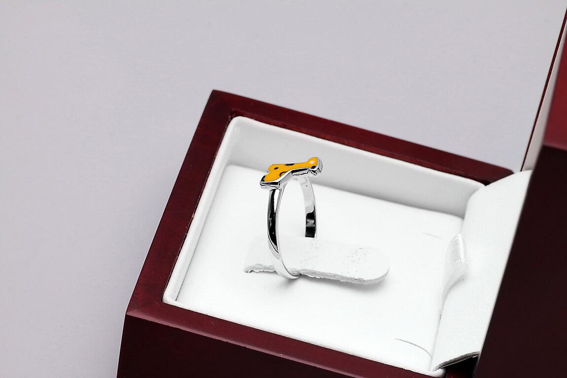 Srebrny Pierścionek z Emalią PSE3478