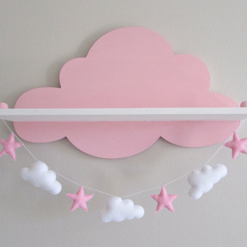 etagere nuage rose decoration chambre