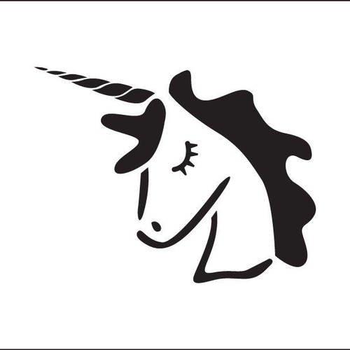 Pochoir de licorne. dessin de licorne. (ref 544-1) - Un grand marché